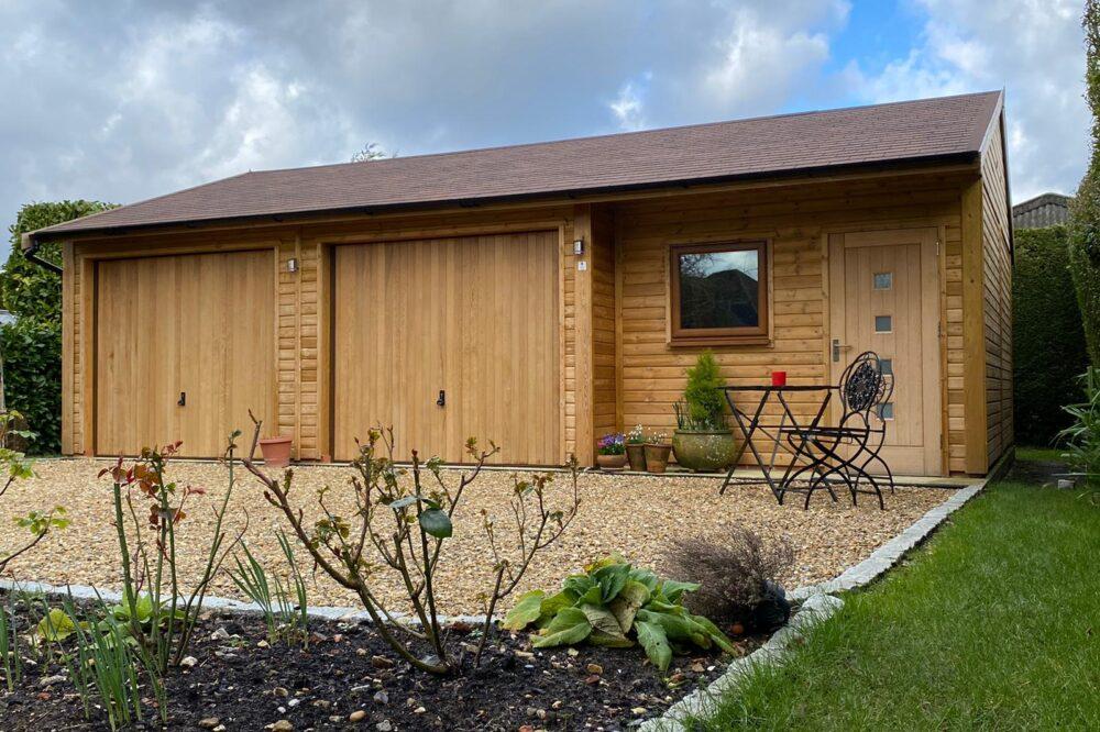 triple timber garage