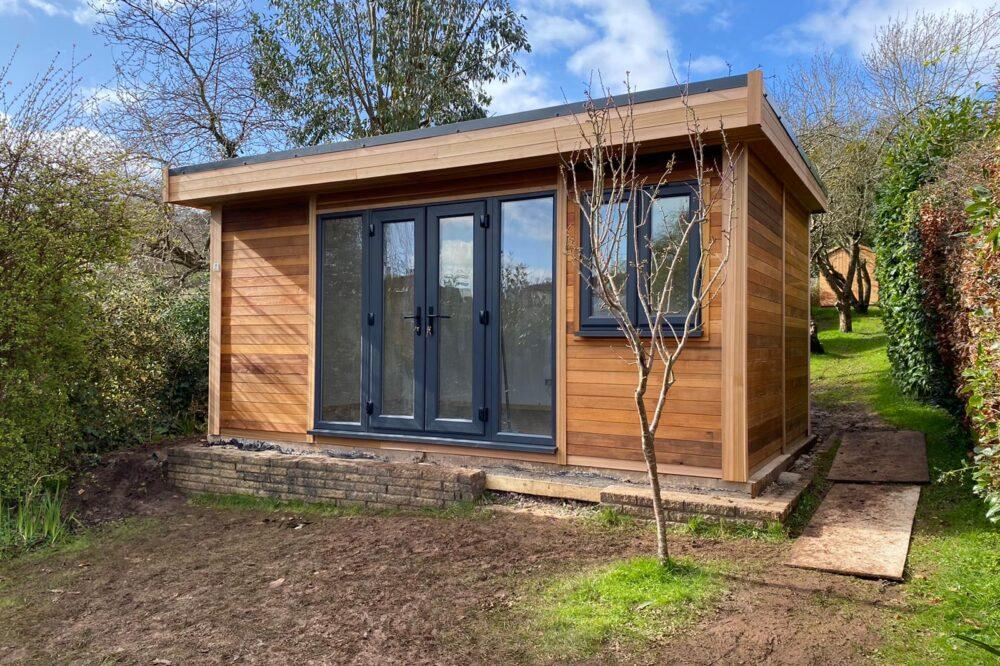 timber built contemporary garden room
