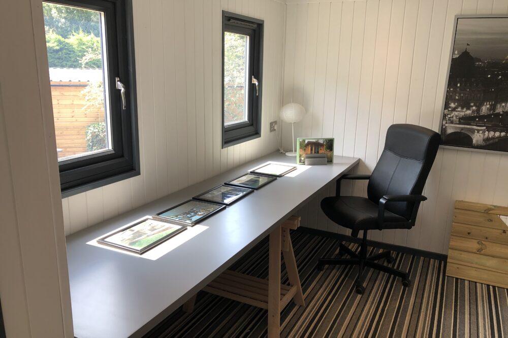 Insulated Garden Office interior