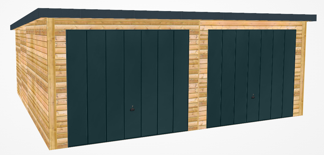 mono roof garage design