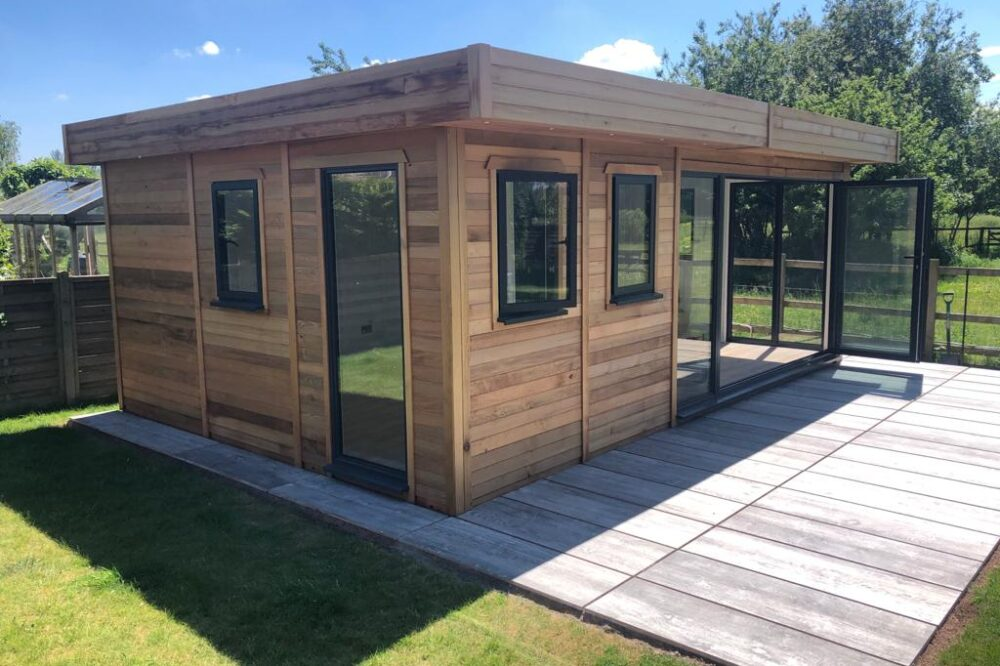 large contemporary garden room with double glazing