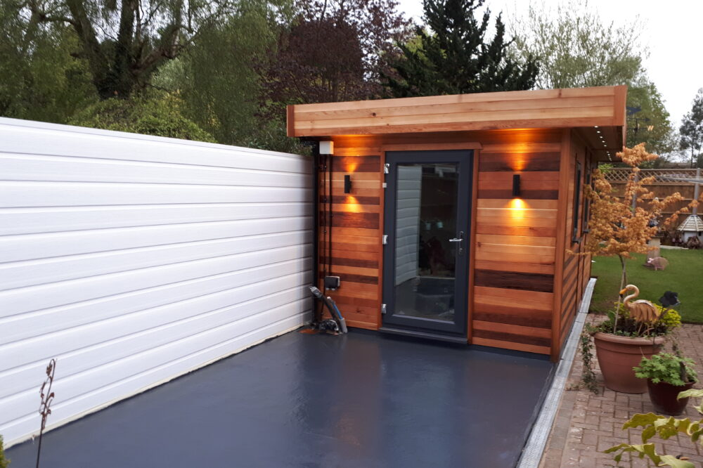 Wood Panelled Contemporary Wooden Garden Building