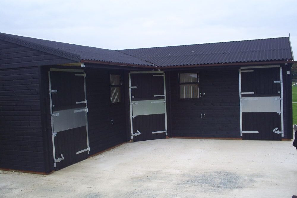 Black timber stables