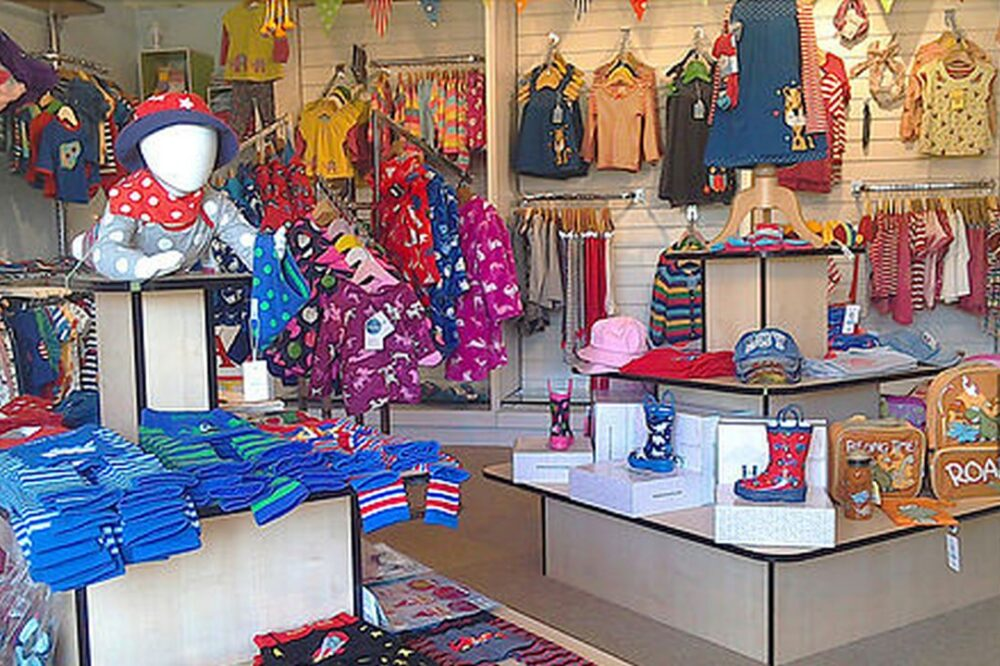 Inside clothing shop