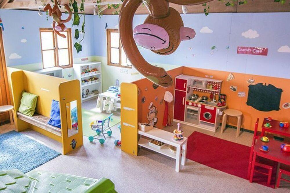 children's play area inside of farm shop