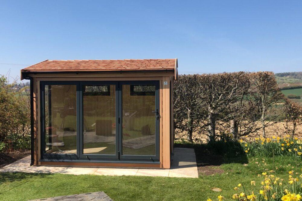 Garden Studio with cedar shingles