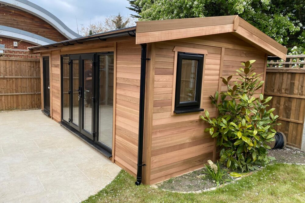 Garden Studio with cedar cladding