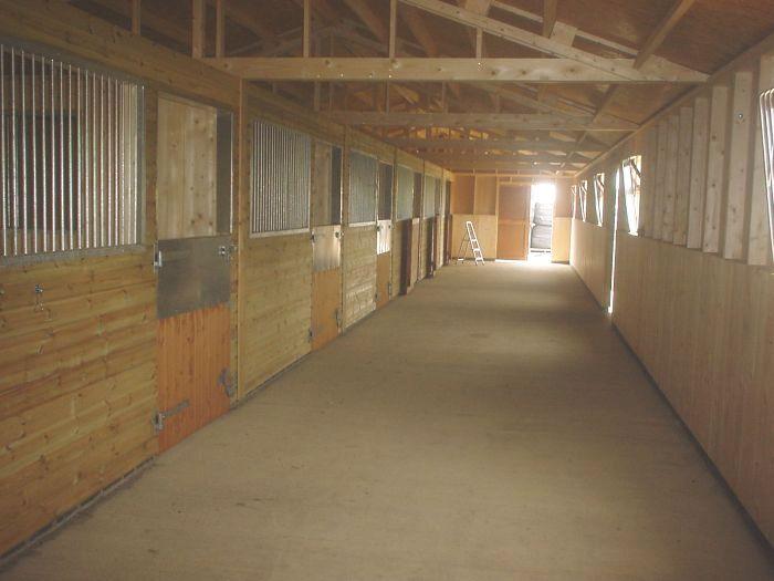 inside view of american barn