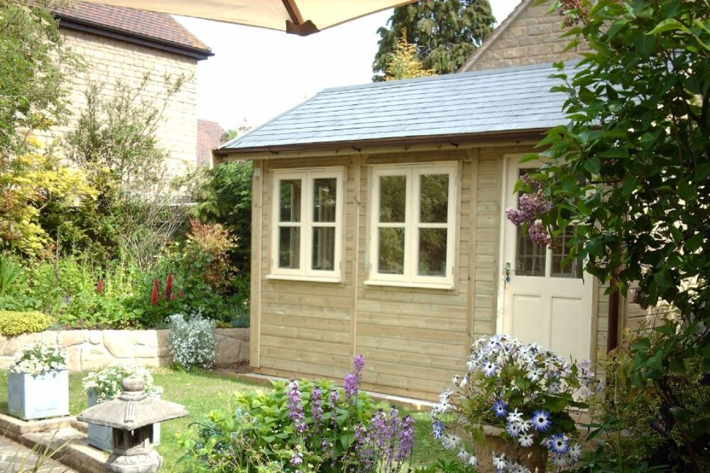 traditional timber garden room for recreational use