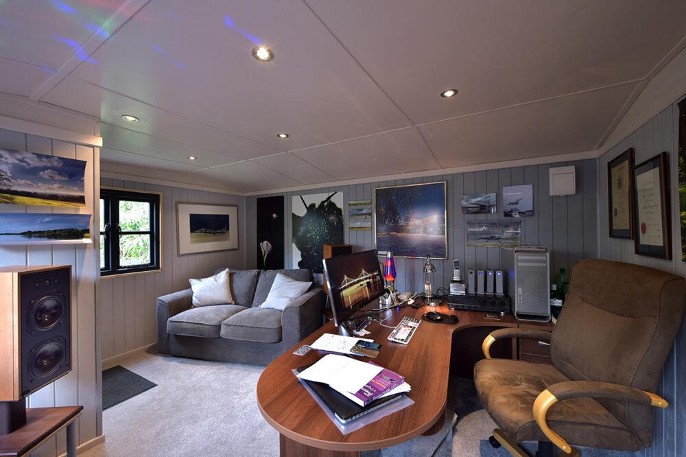 Inside contemporary garden office