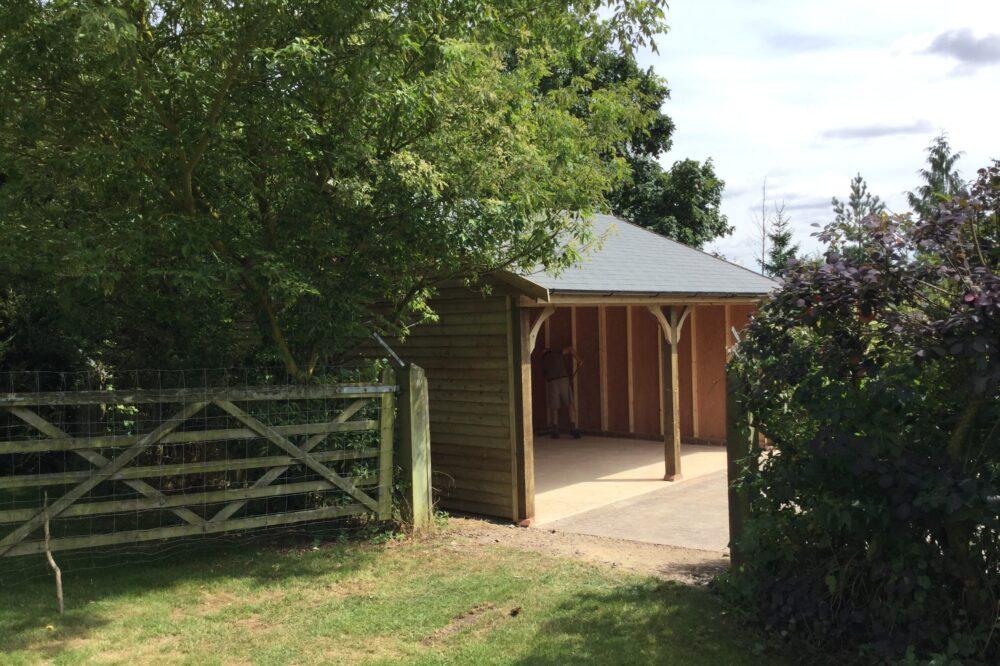 cart lodge 16 timber garage no doors