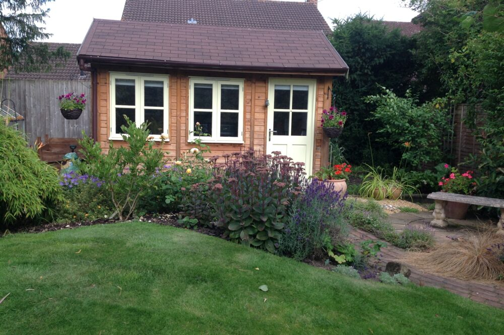 a traditionally designed garden room