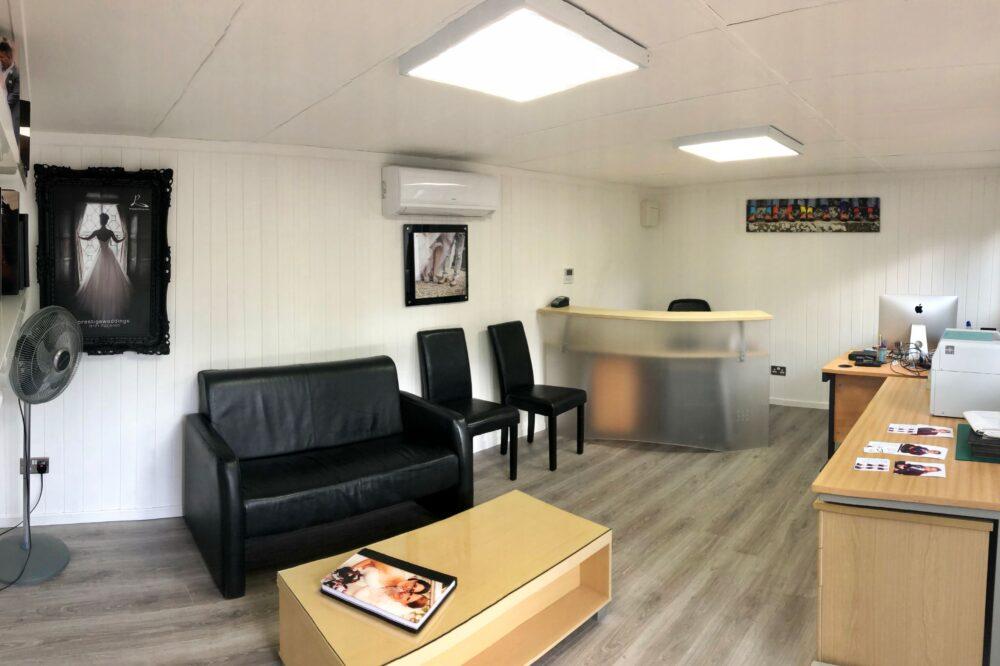 Inside garden office finished by customer