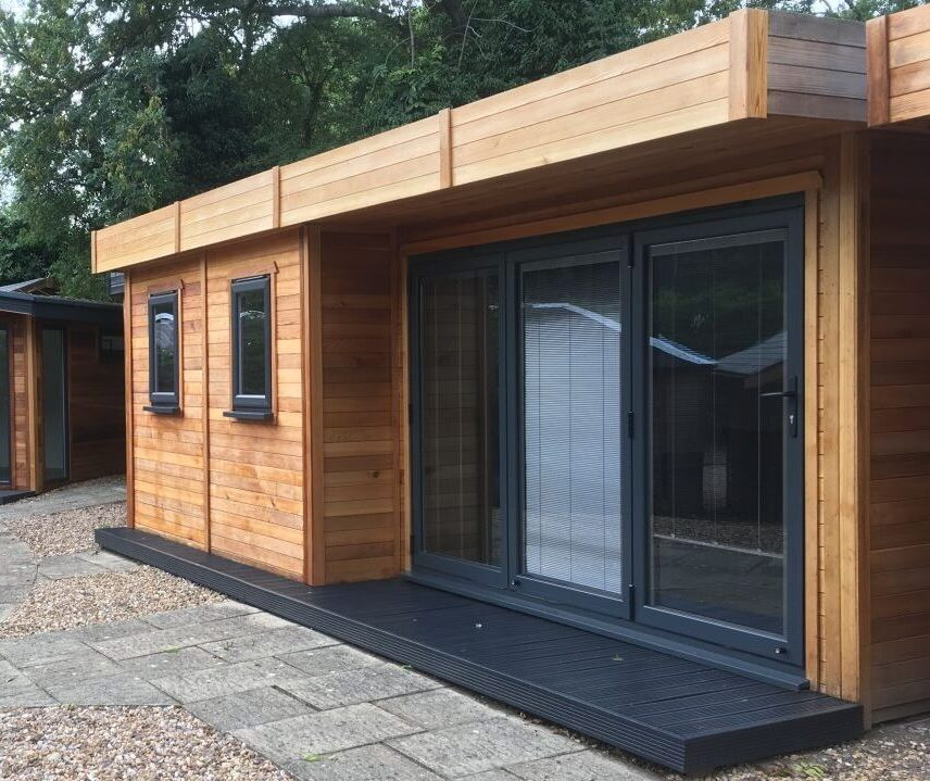 Warwick Buildings display offices and garden rooms