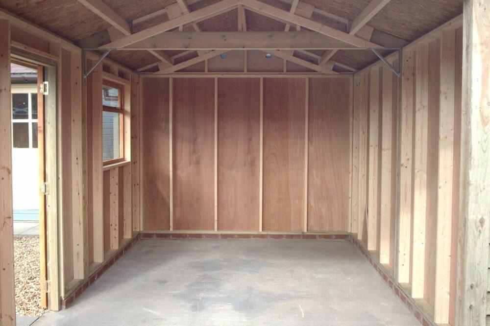 inside double garage