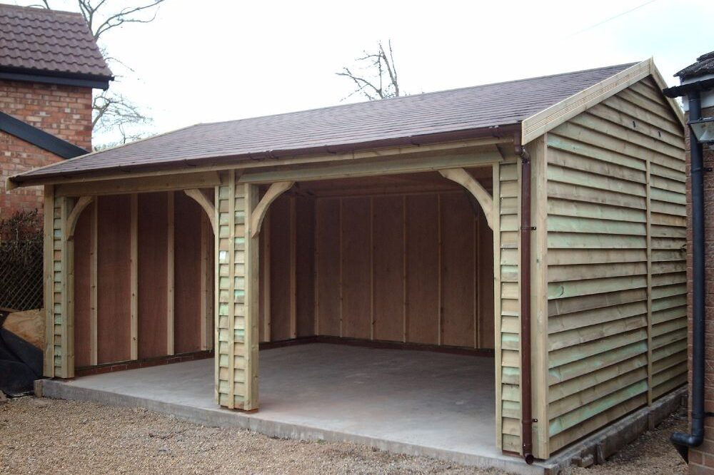 Double Open Fronted Garage