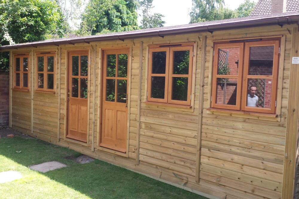 double traditional garden office building