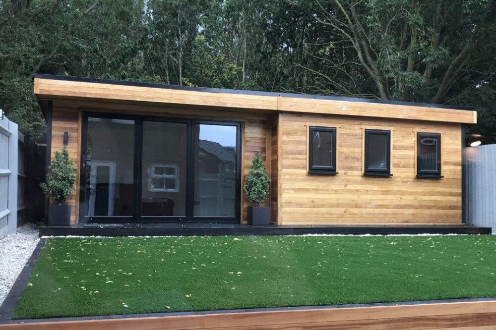 Large modern timber garden room