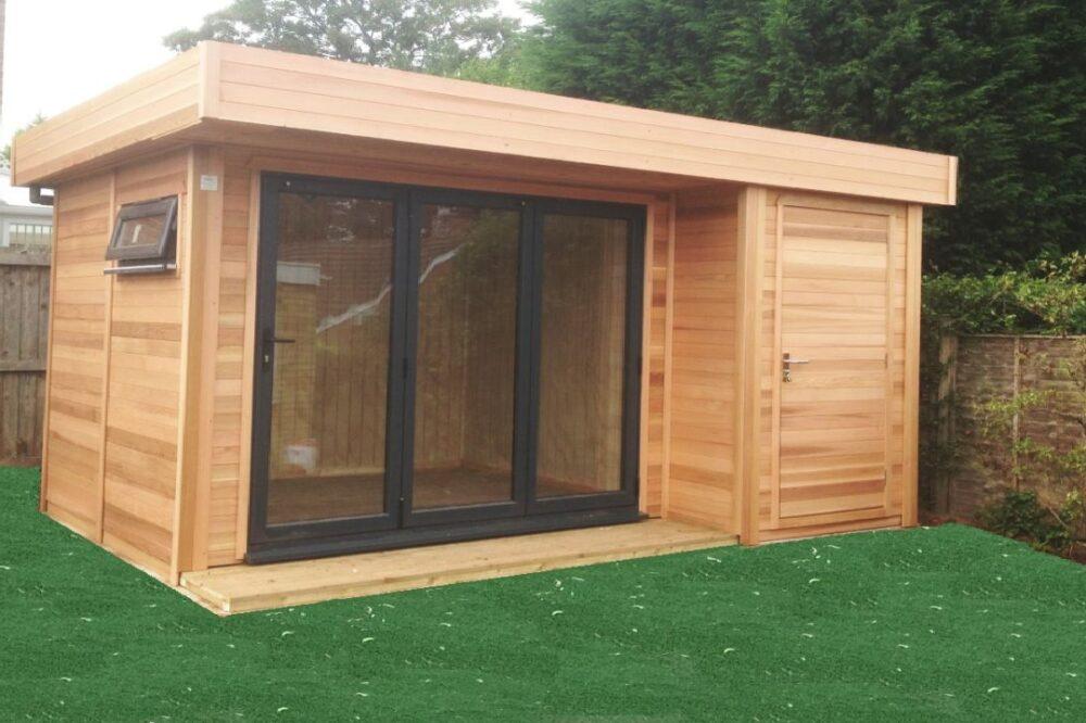 wooden garden room