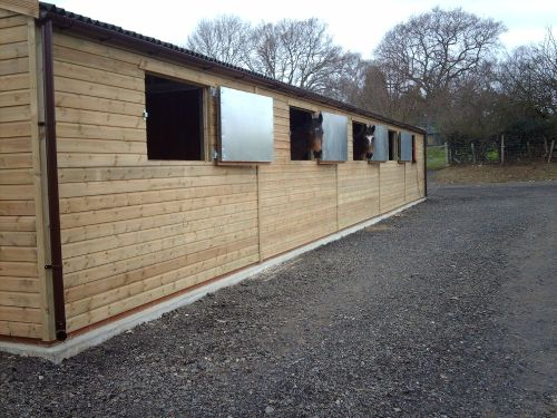 wooden american barn building