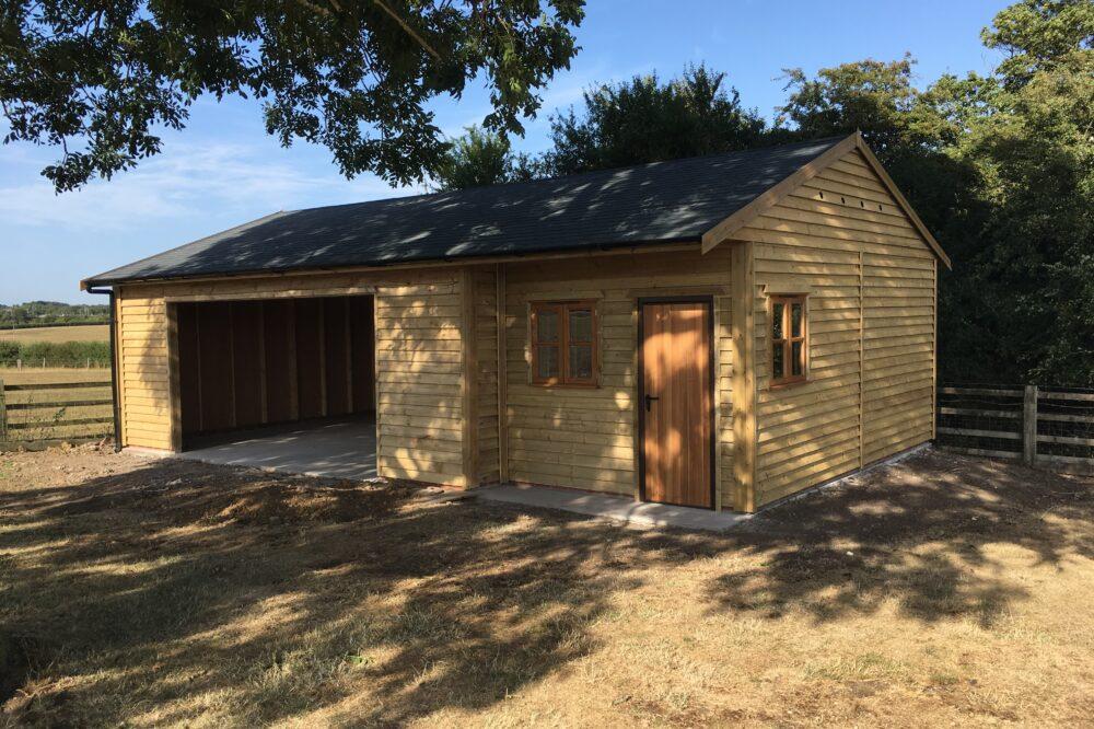 Triple Garage timber